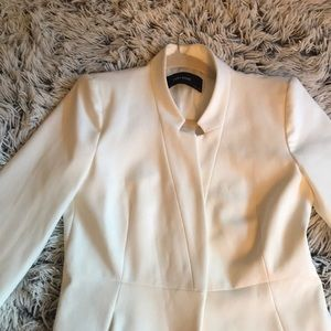 Zara Jackets & Coats - Zara white inverted collar blazer coat